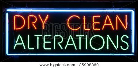 """Neon Sign Series """"Dry Clean, Alterations"""""""