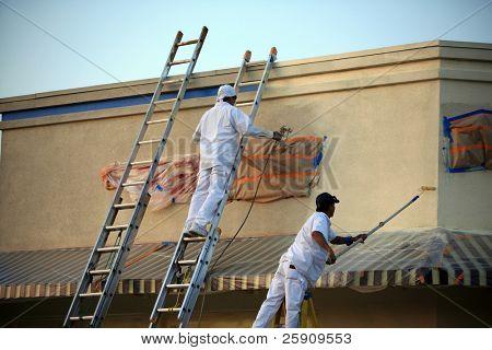 no identificables pintores pintura de un edificio