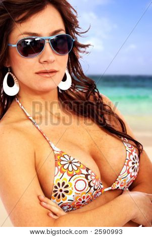 Bikini Girl With Sunglasses