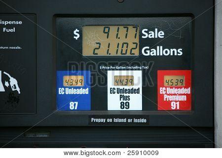 preços do gás na Califórnia em junho de 2008