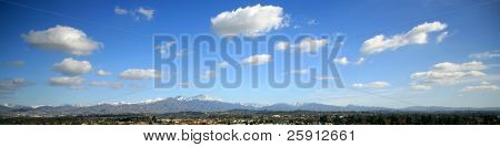 12-19-2008 a rare view of the Saddleback Mountains with snow on them in Orange County California