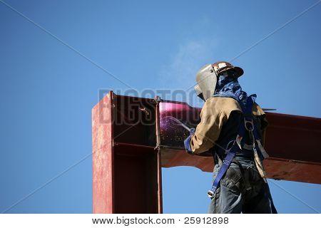 a welder at work outside