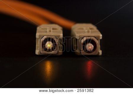 Glowing Fiber Connectors