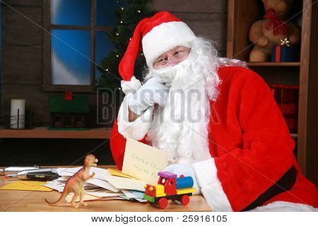 Santa Claus his mail from around the world