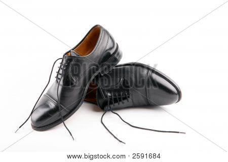 Black Shoesmale With Loose Lace