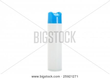 can of air freshener isolated on white