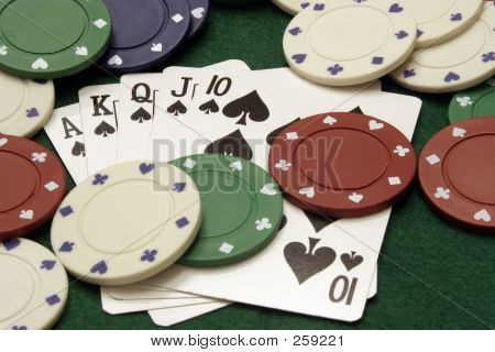 Royal Flush With Chips
