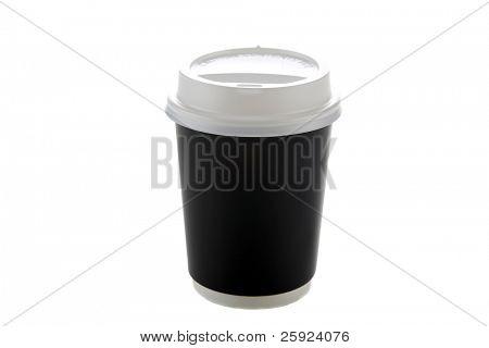 Einweg Kaffeetasse. isoliert auf weiss