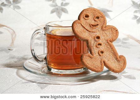 hot fresh tea and cookies