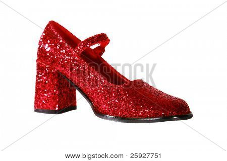 Ruby Red Shoes sparkle and shine isolated on white with room for your text