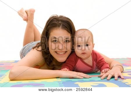 Happy Mother And Baby