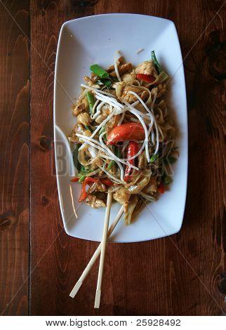 Постер, плакат: Вкусные блюда тайской кухни обед специальные в ресторане, холст на подрамнике