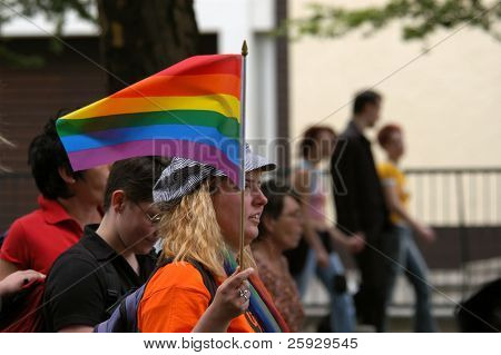 Annual gay and lesbian pride known as Christopher Street Day in Berlin, Germany
