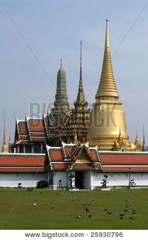 Temple of the Emerald Buddha in the Royal Palace in Bangkok, Thailand
