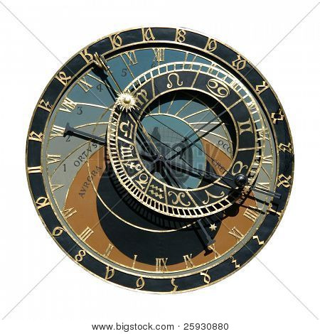 Berühmte mittelalterliche astronomische Uhr in Prag, Tschechische Republik