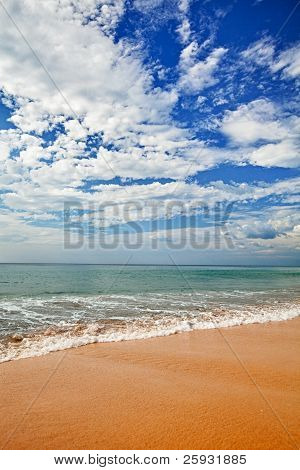 Surf On Beach - Vertical Landscape