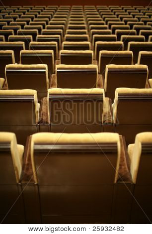 Empty chairs at cinema or theatre