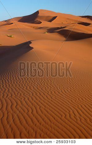 Sanddünen des Erg Chebbi in der Sahara, Marokko.