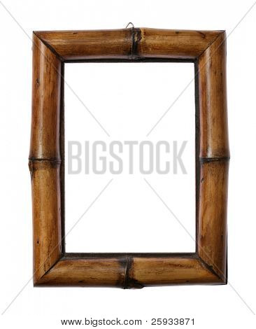 Bamboo frame isolated on white