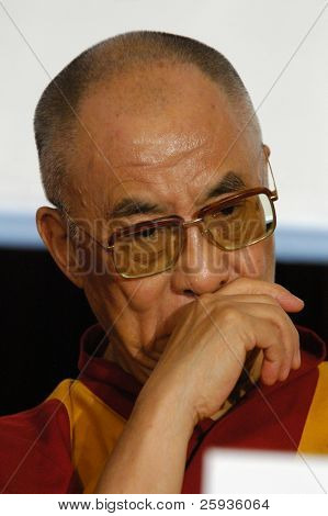 PRAGUE - NOVEMBER 17: His Holiness Dalai Lama during his official visit in Prague, Czech Republic, on November 17, 2010.