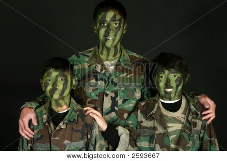 Three Brothers In Camo