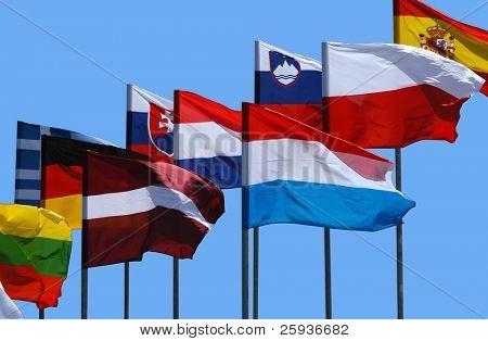 Bandera Nacional de los países europeos