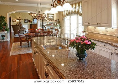 Luxury kitchen with granite countertops