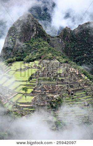 Ancient Inca lost city Machu Picchu, Peru.