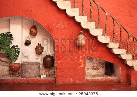 Tourist destination, colorful Arequipa - Peru.