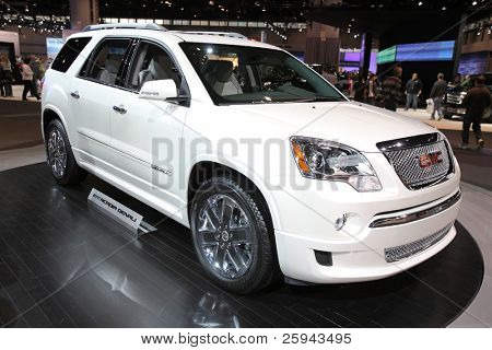 CHICAGO - FEBRUARY 15: The GMC Acadia presentation at the Annual Chicago Auto Show on February 15, 2011 in Chicago, IL.