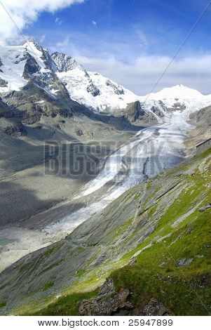 Famous German glacier Kaiser Franz is slowly melting due to global warming