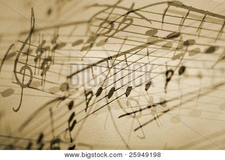 Fondo de notación musical.