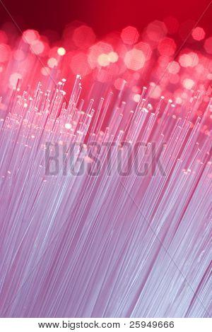 Optische Fasern. kurze Schärfentiefe