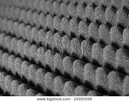 Bumpy open-cell foam rubber