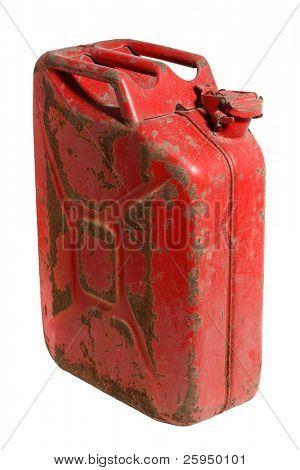 Rusty gás pode isolado no branco