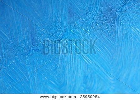 Background - Blue oil paints on canvas.