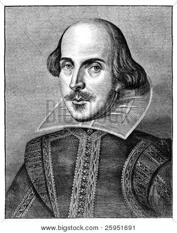 William Shakespeare, dramaturgo e poeta inglês. Gravura do lazer Hour Magazine abril de 186
