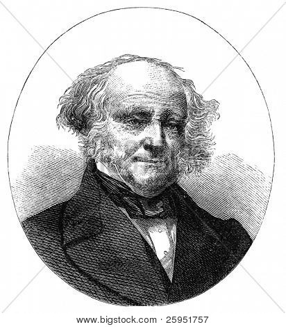 Martin Van Buren (1782-1862) was the eighth President of the United States. Engraving by unknown artist, published in Harper's Monthly may 1872.