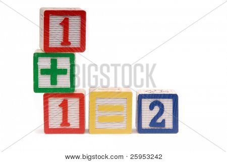 Childrens Building Blocks, To Teach Math Skills,Isolated Over White
