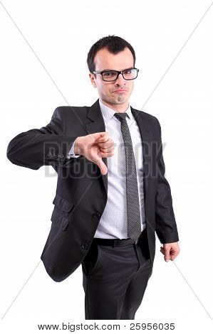 Business Man Thumbs Down