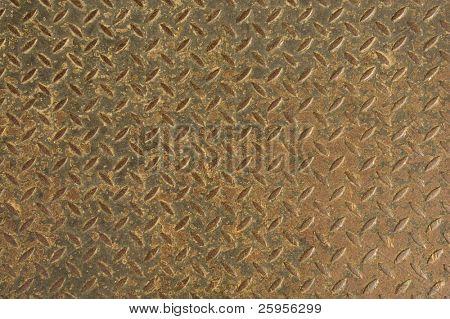 Textur von einem rostigen Blatt aus Metall