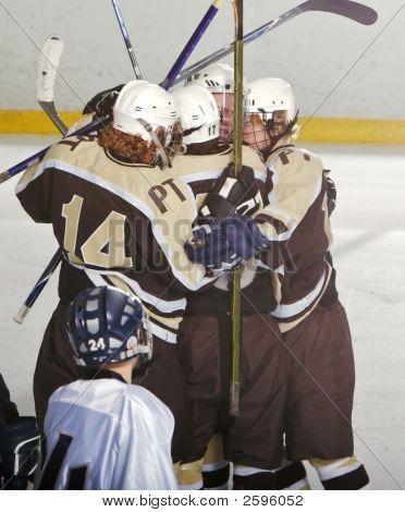 High School Hockey Celebration