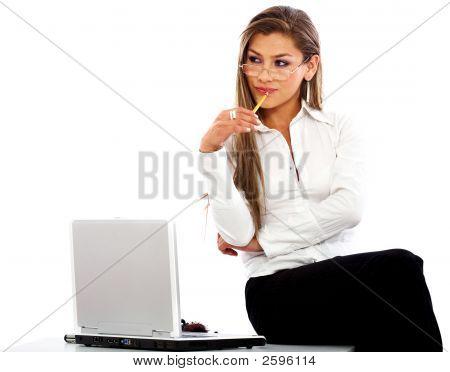 Business Woman - Laptop