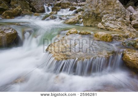 Mountain Stream And Rapids