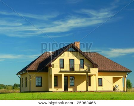 A beautiful new house (landscape)