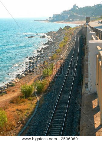 Railway by sea in Spain