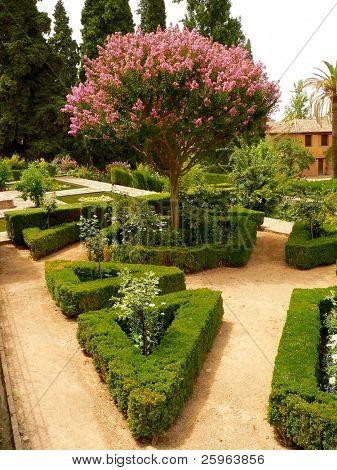 Blume Parc in Alhambra, Granada, Spanien