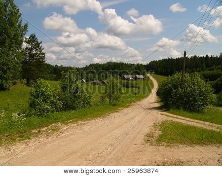 Country road in Latvia