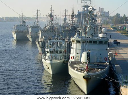 Russian fleet in harbor of Riga