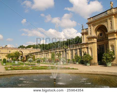 Fountain by Sans Souci, Potsdam, Berlin, Germany, Europe